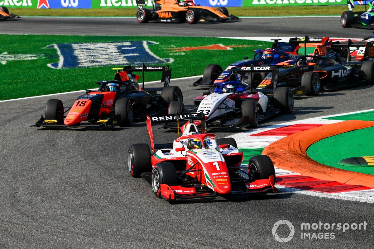 Oscar Piastri, Prema Racing, Bent Viscaal, MP Motorsport e Roman Stanek, Charouz Racing System