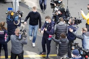 Nico Hulkenberg, Racing Point, arrives at the circuit
