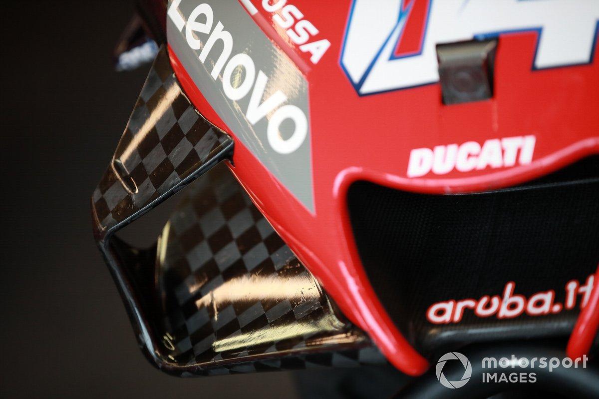 Dettaglio della moto di Andrea Dovizioso, Ducati Team