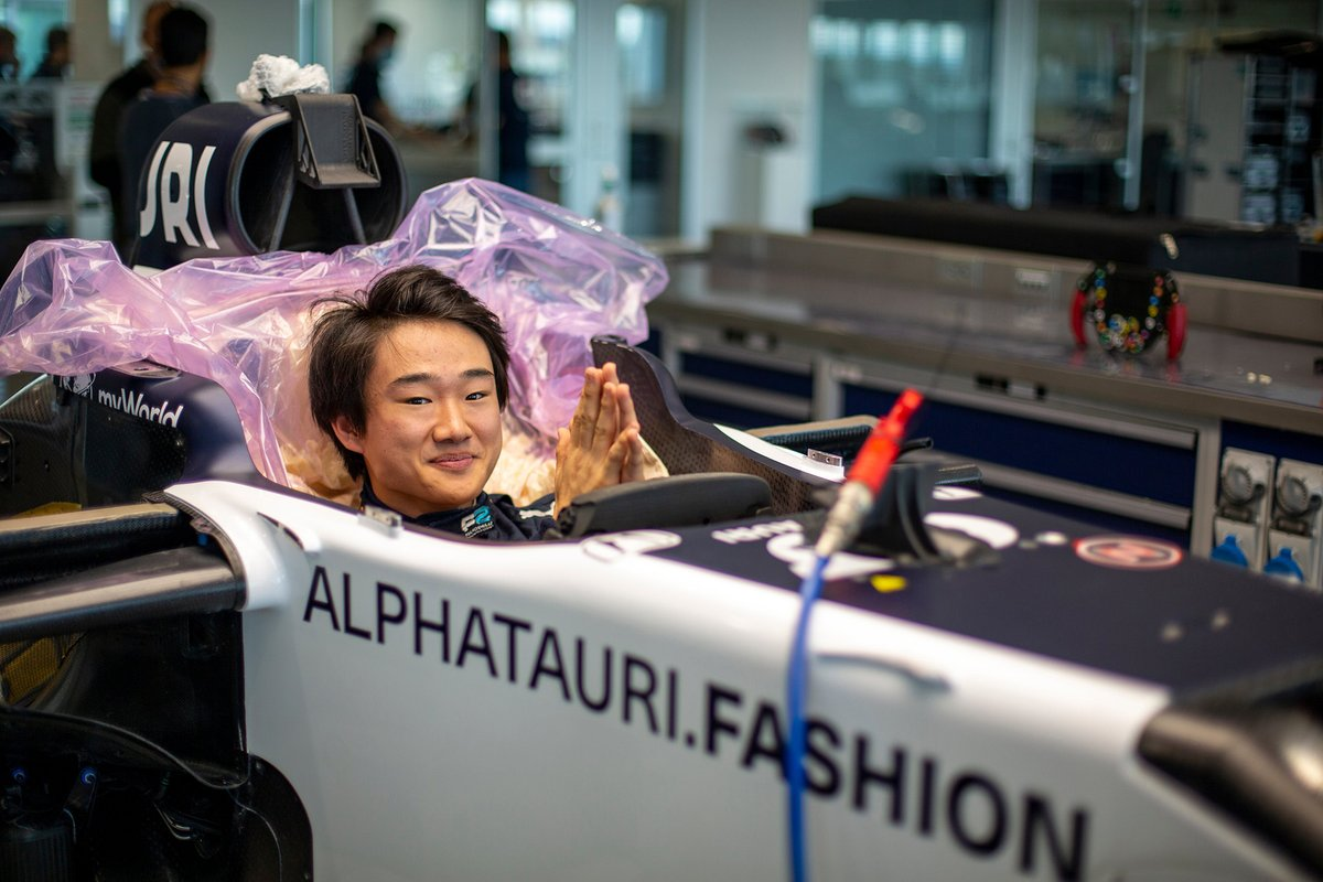 Yuki Tsunoda, AlphaTauri F1 testi