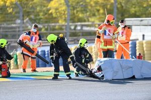 Moto de Mattia Casadei, Ongetta SIC58 Squadracorse après son crash