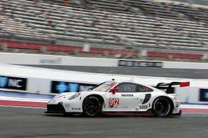 Hasarlı #912 Porsche GT Team Porsche 911 RSR - 19, GTLM: Laurens Vanthoor, Earl Bamber