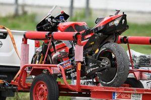 Andrea Dovizioso, Ducati Team después de la caída