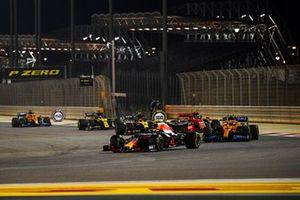 Alex Albon, Red Bull Racing RB16, Lando Norris, McLaren MCL35, Charles Leclerc, Ferrari SF1000, Esteban Ocon, Renault F1 Team R.S.20, and Daniel Ricciardo, Renault F1 Team R.S.20