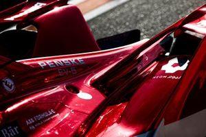 Rear of Sergio Sette Camara, Dragon Penske Autosport, Penske EV-4