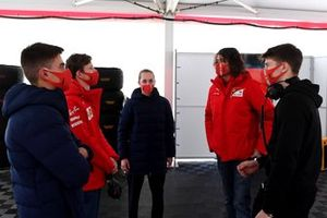 Arthur Leclerc, Maya Weug, Callum Ilott, Marco Matassa, head of the Ferrari Driver Academy