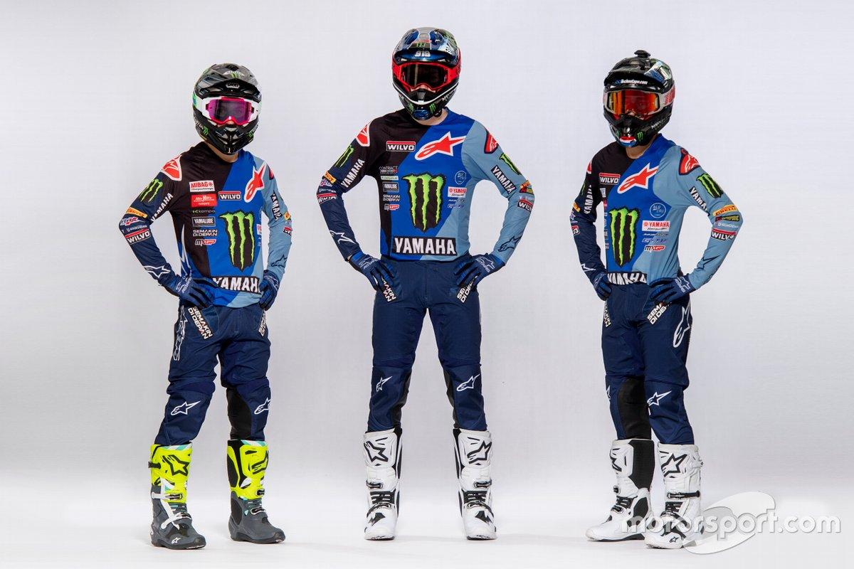 Jeremy Seewer, Ben Watson en Glenn Coldenhoff, Monster Energy Yamaha Factory Racing