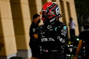 George Russell, Mercedes-AMG F1, in Parc Ferme after Qualifying