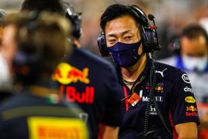 Red Bull team members on the grid