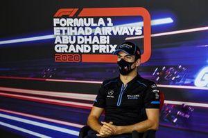 Nicholas Latifi, Williams Racing in the press conference