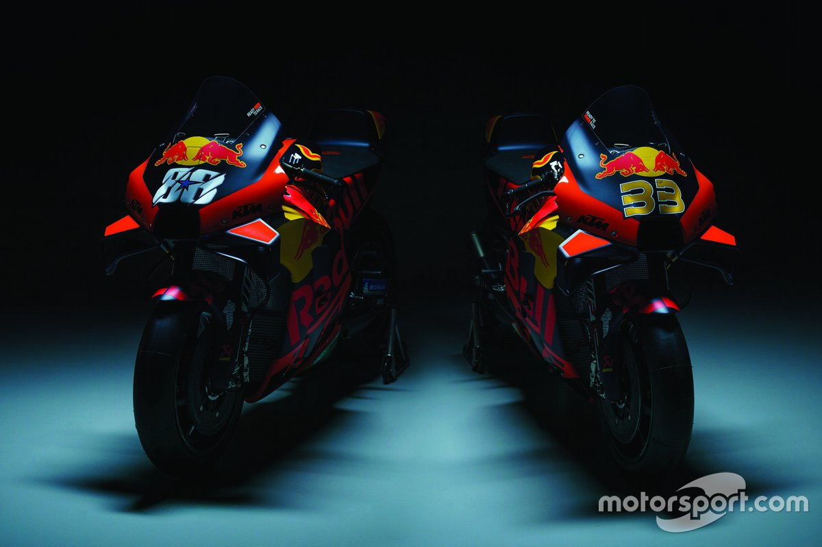 Motor van Brad Binder, Red Bull KTM Factory Racing en Miguel Oliveira, Red Bull KTM Factory Racing