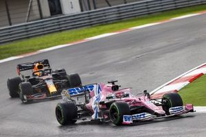 Sergio Perez, Racing Point RP20, Max Verstappen, Red Bull Racing RB16