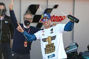 Joan Mir, Team Suzuki MotoGP, Franco Franco Uncini, FIM Grand Prix Safety Officer