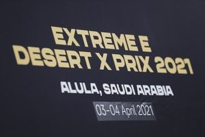 Signage for the Extreme E Desert X Prix 2021