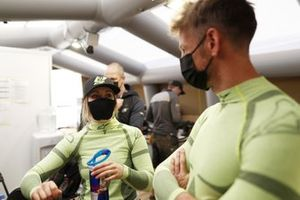 Mikaela Ahlin-Kottulinsky, JBXE Extreme-E Team, and Jenson Button, JBXE Extreme-E Team