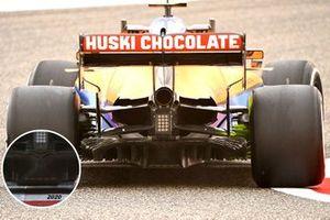 Comparaison du diffuseur de la McLaren MCL35M