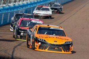 Daniel Hemric, Joe Gibbs Racing, Toyota Supra Poppy Bank, Brandon Brown, Brandonbilt Motorsports, Chevrolet Camaro Larry's Hard Lemonade