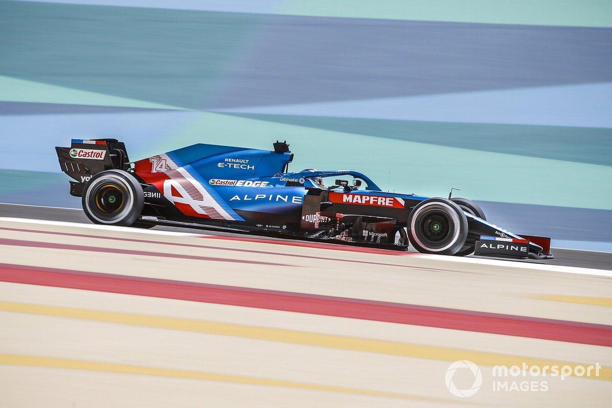 5. Fernando Alonso, Alpine A521: 206 vueltas (1114,872 km)