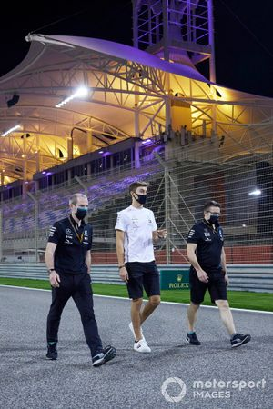 George Russell, Mercedes-AMG F1 walks the track