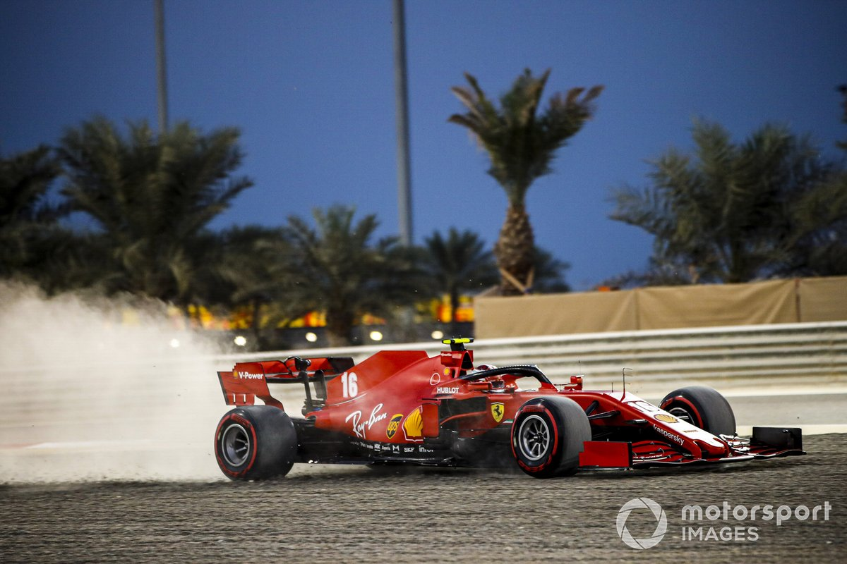 Charles Leclerc, Ferrari SF1000, nella sabbia