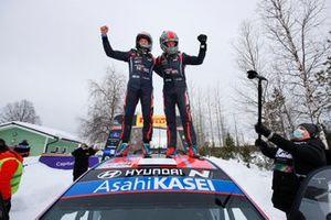 Winners Ott Tänak, Martin Järveoja, Hyundai Motorsport Hyundai i20 Coupe WRC