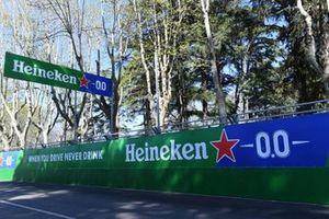 Heineken branding at the tracks sides