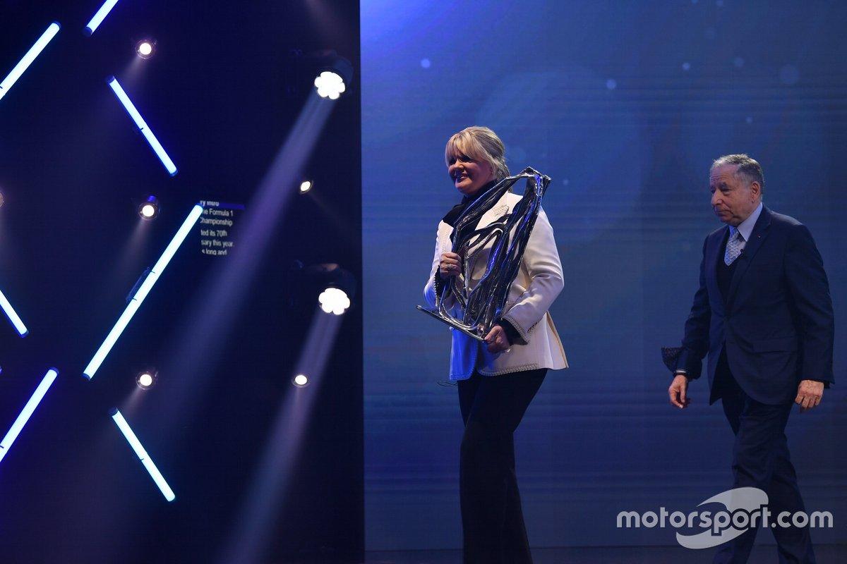 Corinna Schumacher y Jean Todt, presidente de la FIA