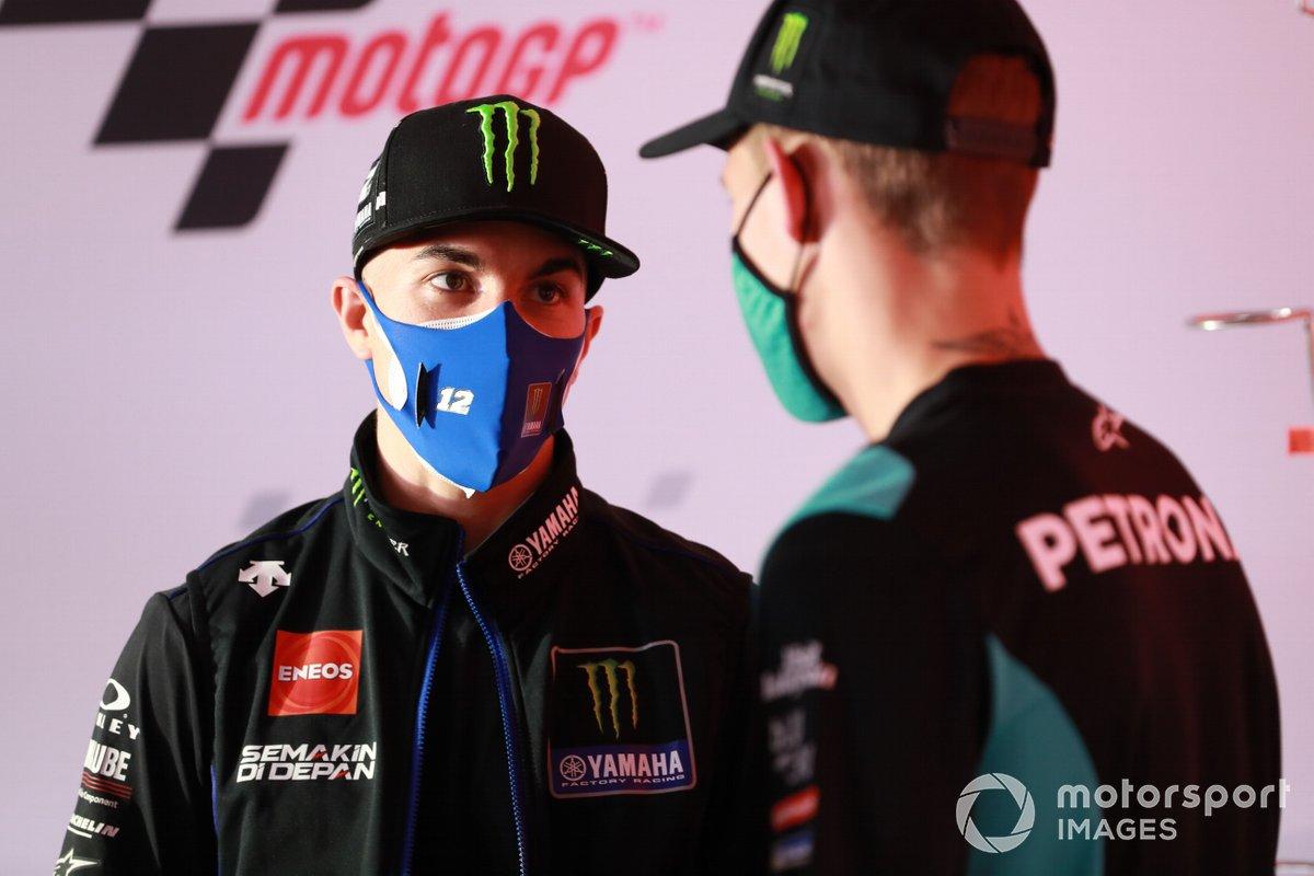 Maverick Viñales, Yamaha Factory Racing Fabio Quartararo, Petronas Yamaha SRT