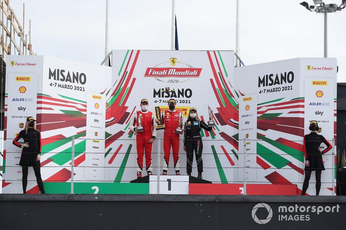 Il podio Trofeo Pirelli Gara2 categoria PRO: al primo posto Thomas Neubauer, Charles Pozzi-Courage, secondo posto John Wartique, Francorchamps Motors Luxembourg, terzo posto Fabienne Wohlwend, Octane 126