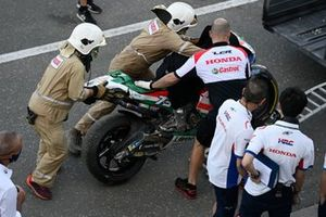 Alex Marquez, Team LCR Honda crashed bike