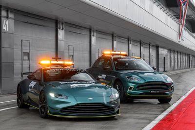 Aston Martin coche de Seguridad y Médico