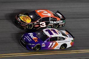 Denny Hamlin, Joe Gibbs Racing, Toyota Camry, Austin Dillon, Richard Childress Racing, Chevrolet Camaro