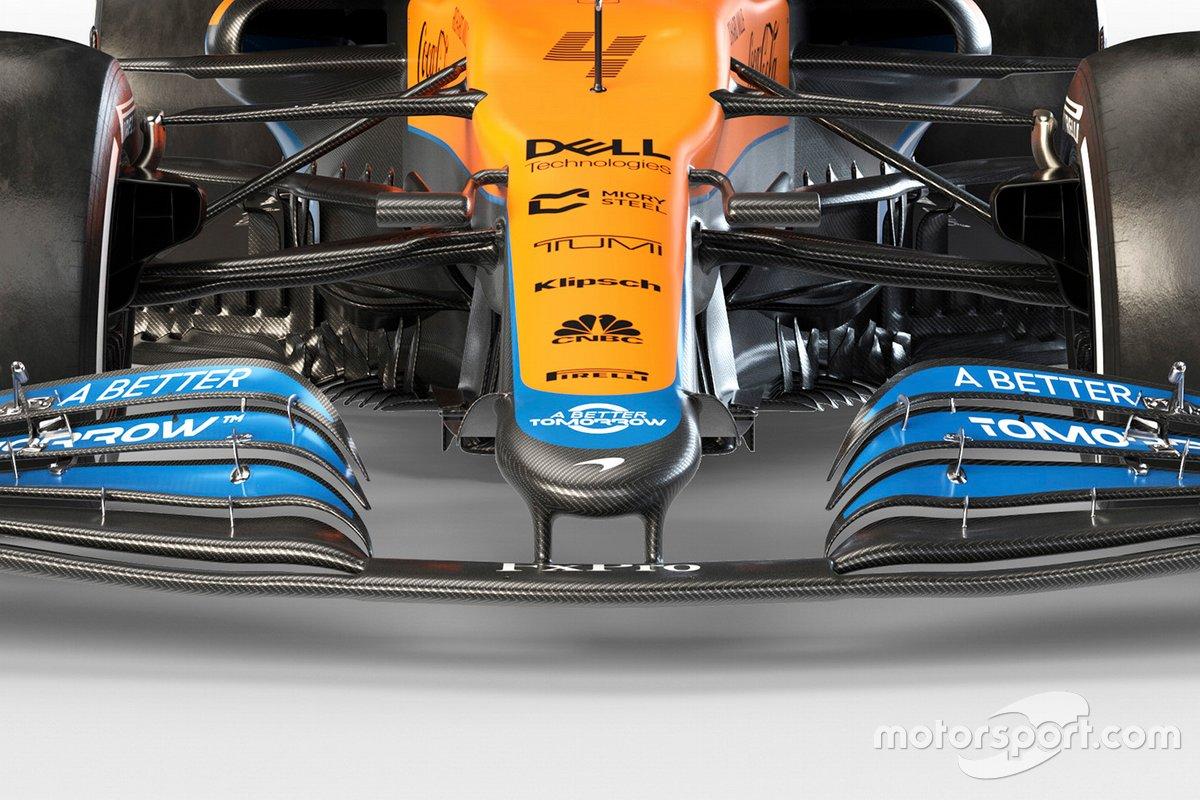 Detalle delantero del McLaren MCL35M