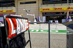 Pit board of Lance Stroll, Racing Point