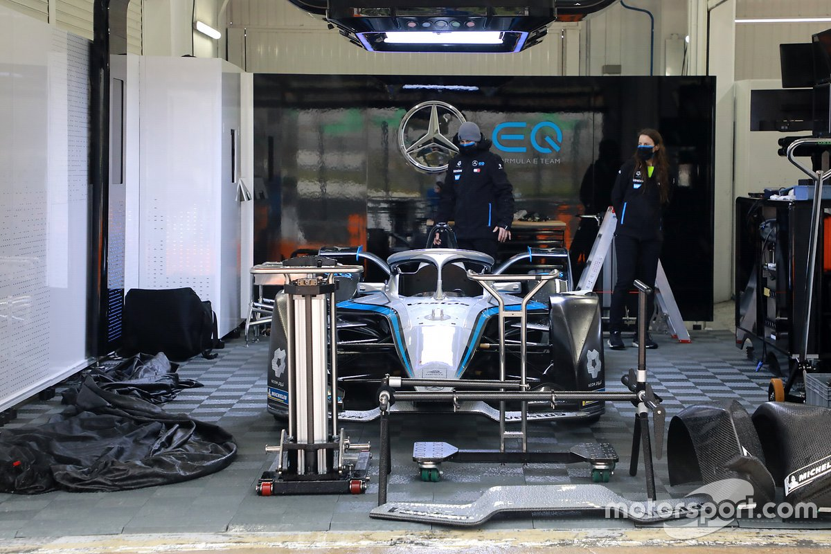 Mercedes-Benz EQ Formula E Team garage