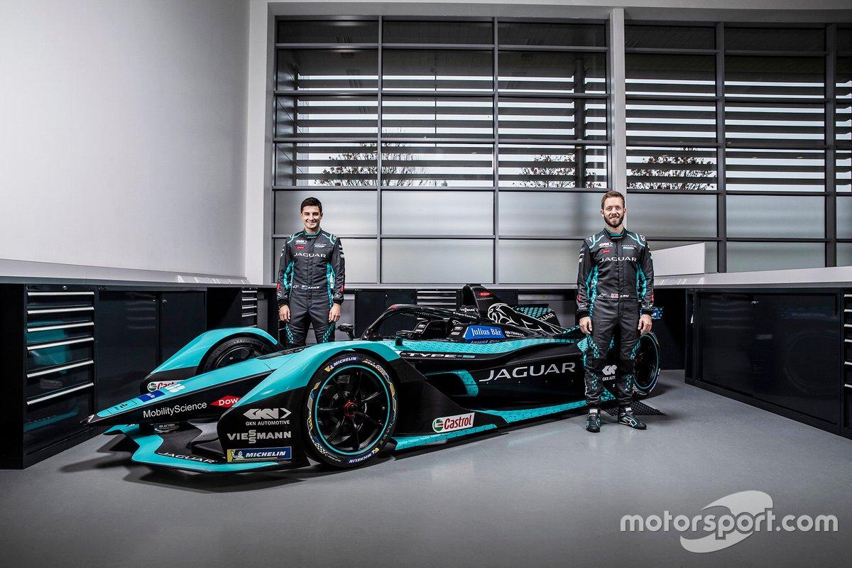 Mitch Evans y Sam Bird, Jaguar Racing, Jaguar I-Type 5