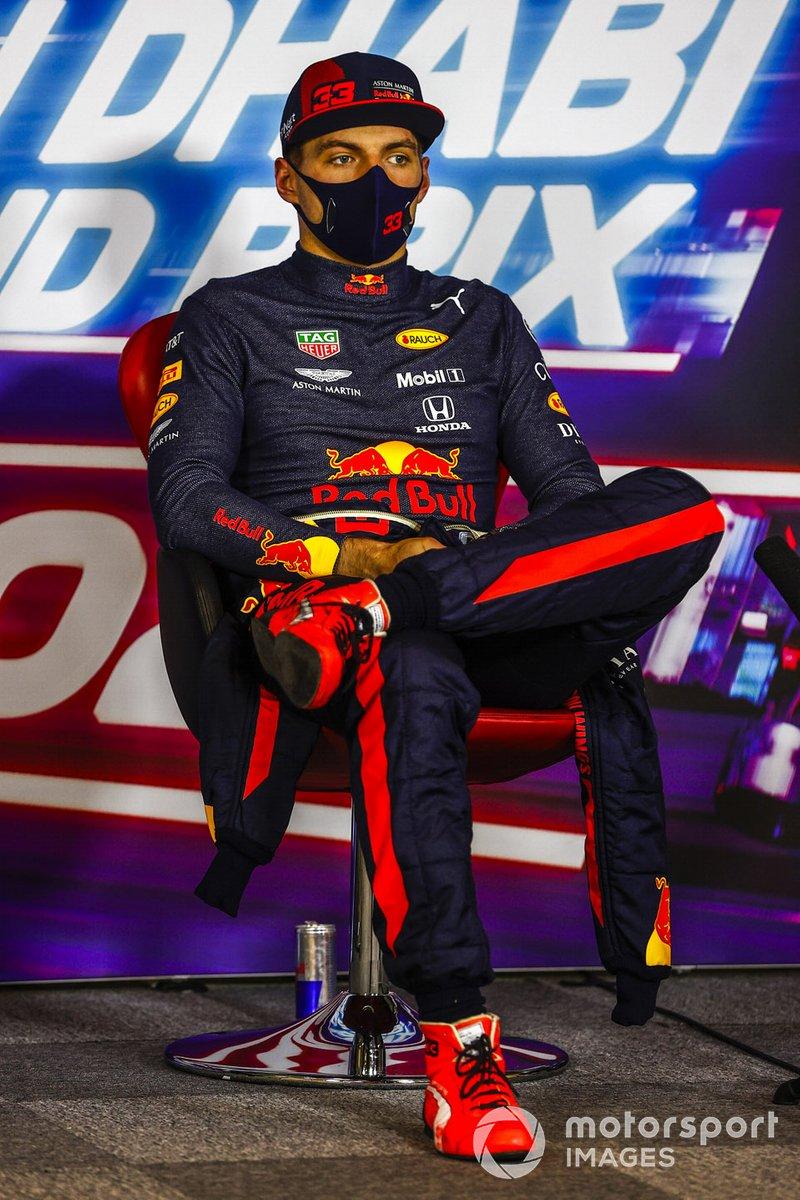 Max Verstappen, Red Bull Racing, en la conferencia de prensa después de la carrera