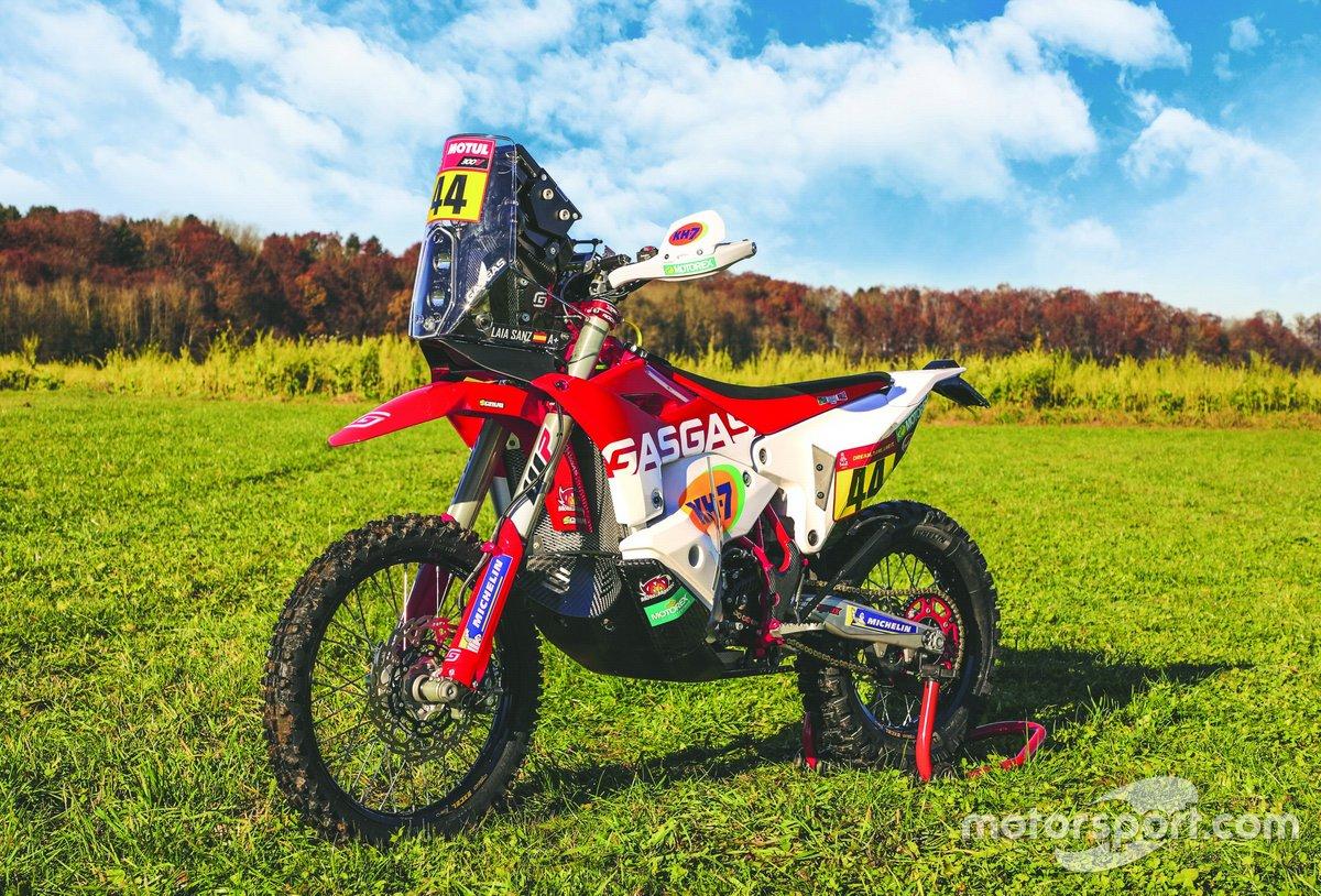 La moto de Laia Sanz, GASGAS Rally team