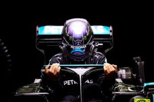 Lewis Hamilton, Mercedes, settles into his seat