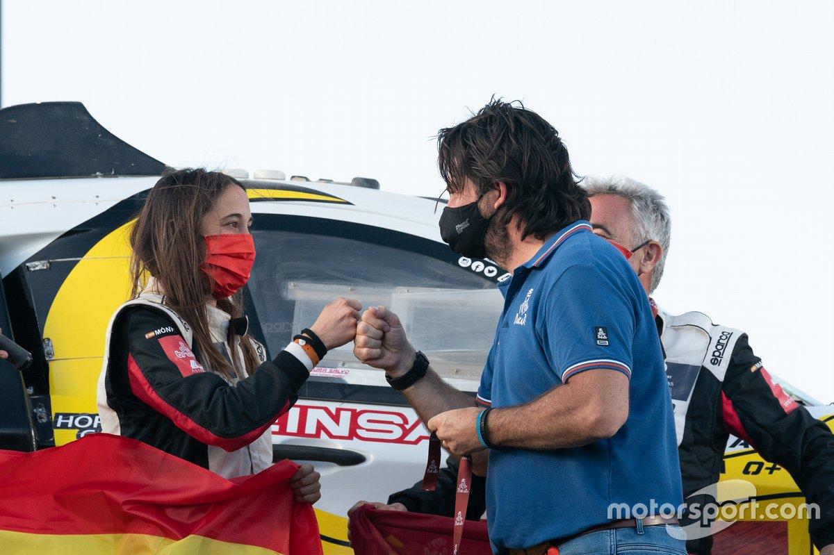 #349 Sodicars Racing Chevrolet: Perez Manuel Plaza, Monica Plaza con David Castera, Director del Dakar