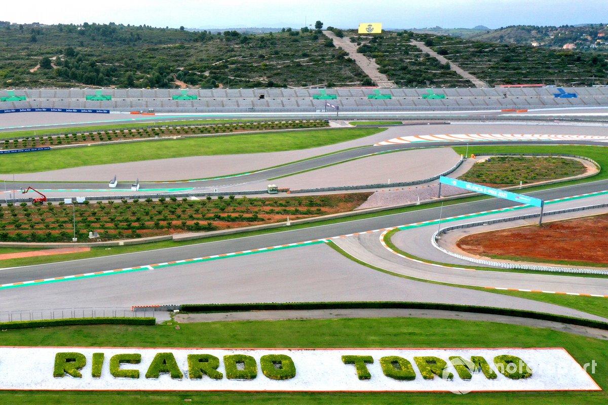 Vista aérea del circuito Ricardo Tormo de Cheste, en Valencia