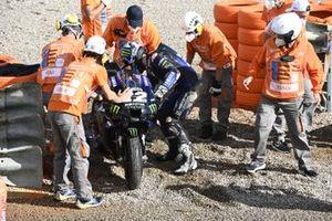 Maverick Vinales, Yamaha Factory Racing na zijn crash