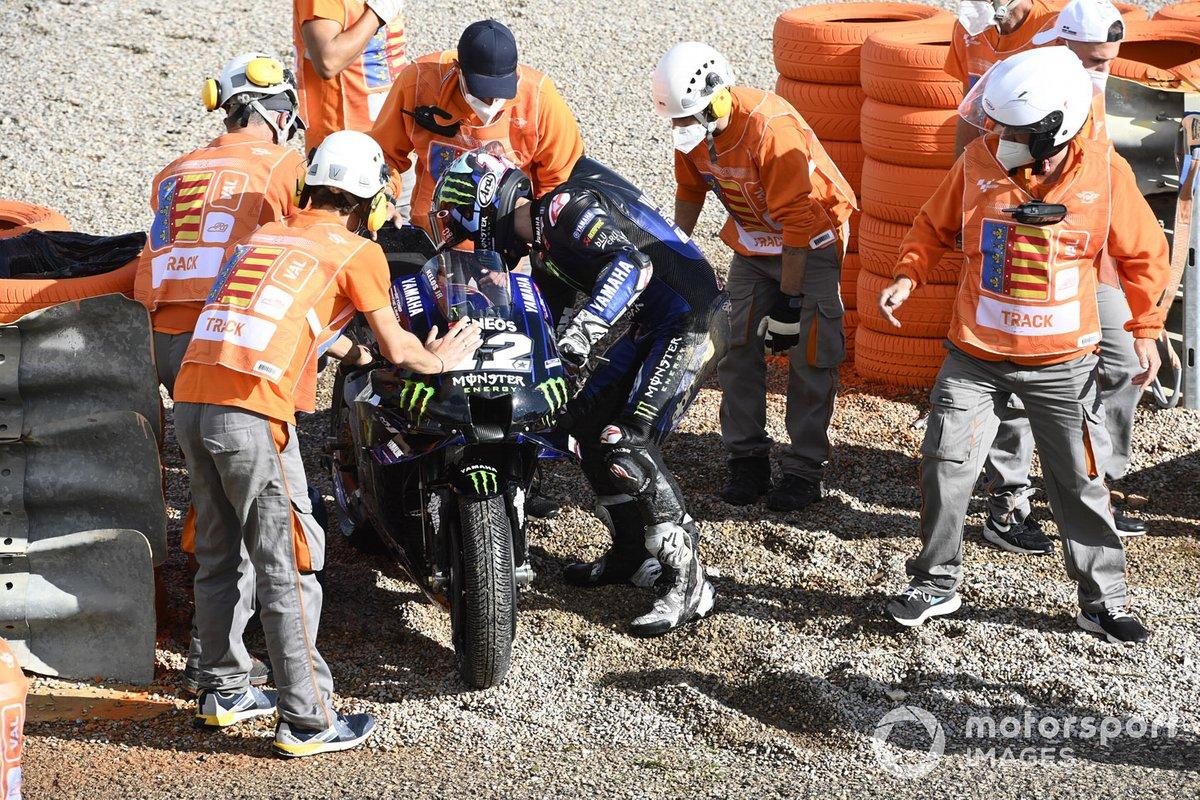 Maverick Viñales, Yamaha Factory Racing después de la caída