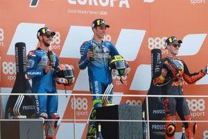 Race winner Joan Mir, Team Suzuki MotoGP, second place Alex Rins, Team Suzuki MotoGP, third place Pol Espargaro, Red Bull KTM Factory Racing