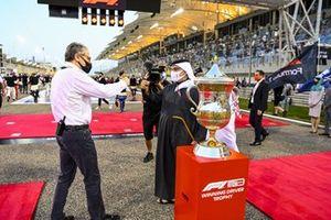 Prince Salman bin Hamad bin Isa Al Khalifa, Deputy King, Crown Prince of Bahrain, and Stefano Domenicali, Chairman, Formula 1
