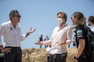 Alejandro Agag, CEO, Extreme E, Nico Rosberg, founder and CEO, Rosberg X Racing, and Molly Taylor, Rosberg X Racing