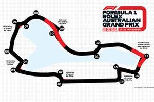 Australian GP kaart