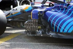 Williams FW43B sidepods detail