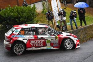 Paolo Andreucci, Francesco Pinelli, Team MRF Tyres, Skoda Fabia Rally2 Evo