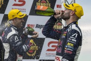 1. Shane van Gisbergen, Triple Eight Race Engineering Holden, 3. Jamie Whincup, Triple Eight Race Engineering Holden